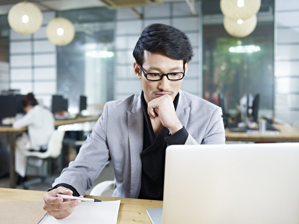Man working inside the office