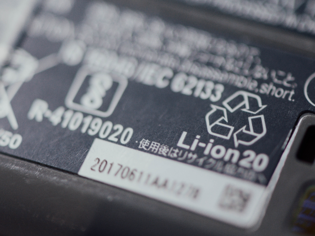 Li-ion battery close up