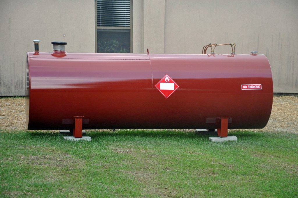 Above Ground fuel tank holding diesel fuel