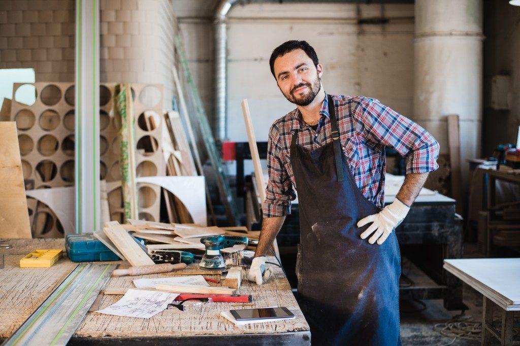 Man at his workshop