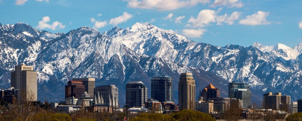 Panoramic shot of Salt Lake City