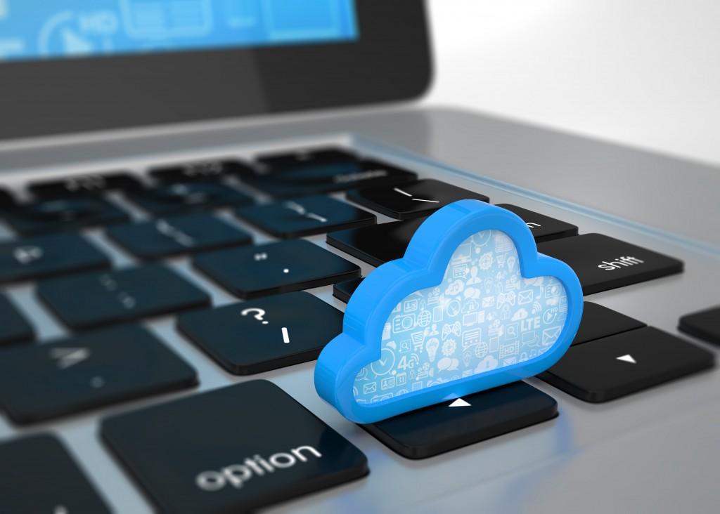 Cloud symbol laptop