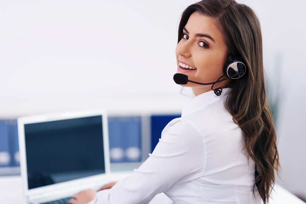 woman from customer service