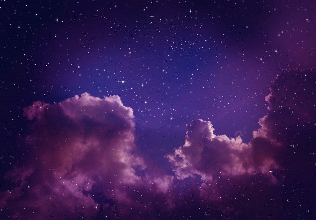 stars in the purple sky