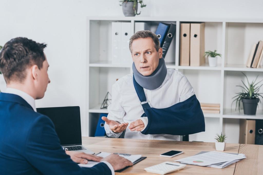 talking to employee
