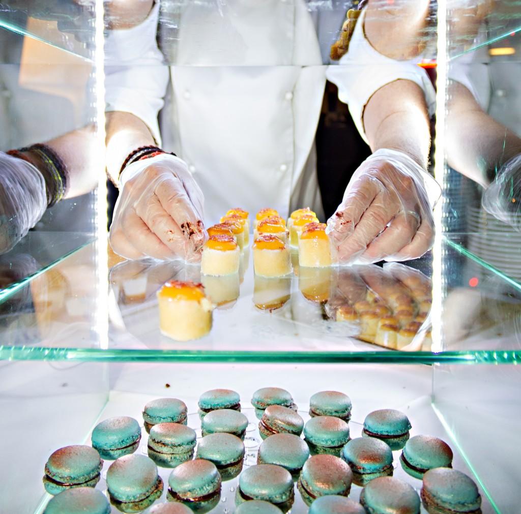 baker displaying pastries