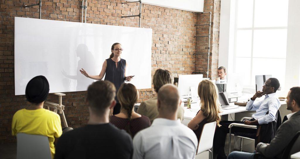 professionals attending seminar