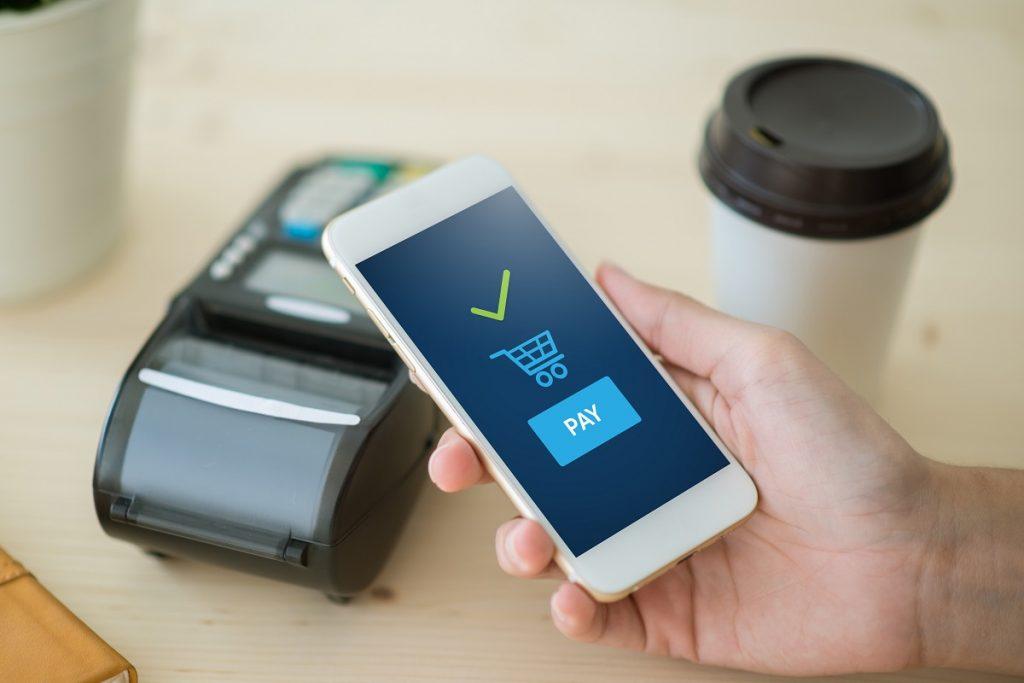 customer paying through mobile
