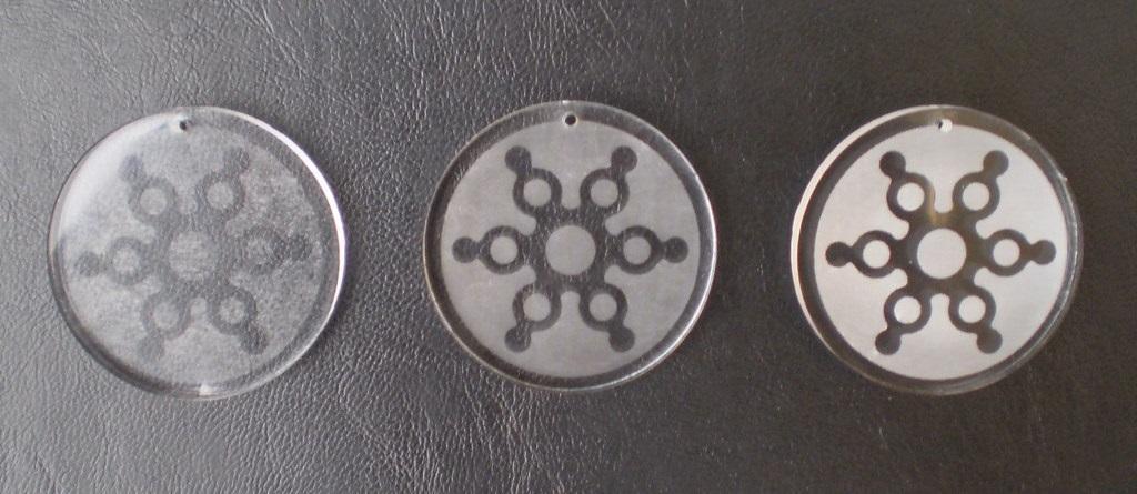 laser engraved