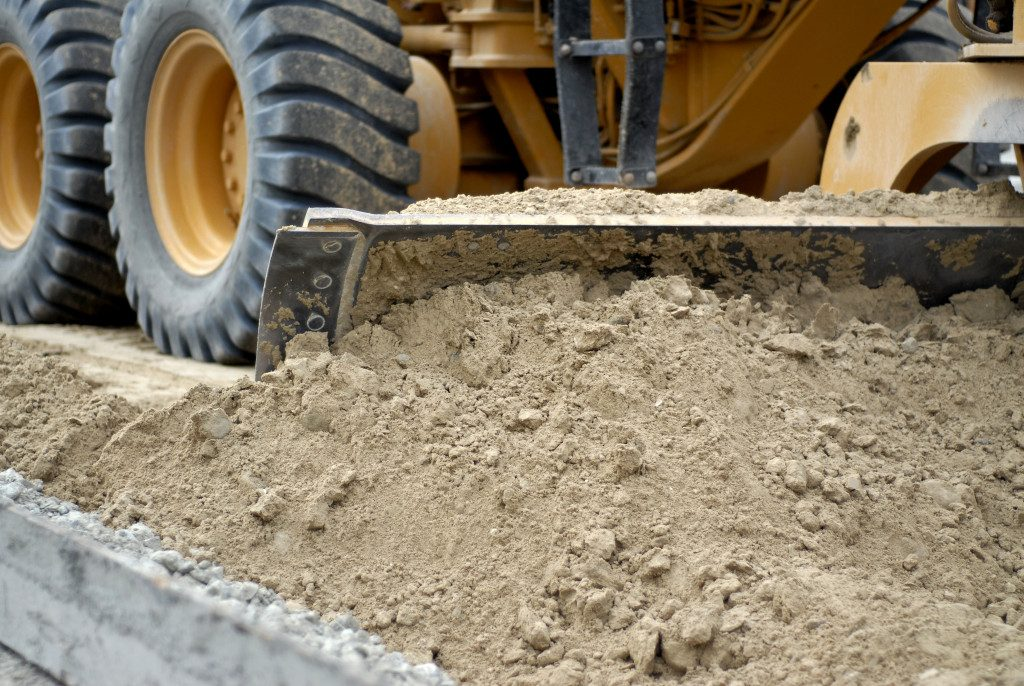 Excavators Clearing Sand For Roadworks